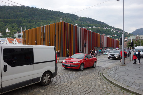Photo: Gebäude der Touristen Information in Bergen